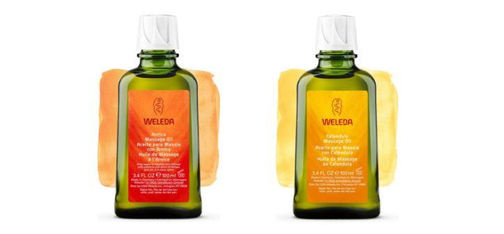 weleda aceites masaje